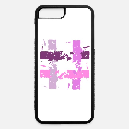 Symbol  iPhone Cases - Four shades of pink - iPhone 7 & 8 Plus Case white/black