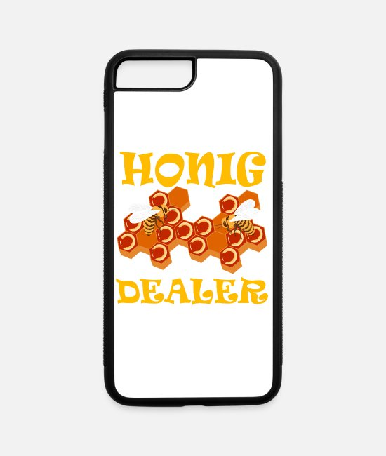 Eager iPhone Cases - Honig Dealer Perfect Gift For Wild Friends Tshirt - iPhone 7 & 8 Plus Case white/black