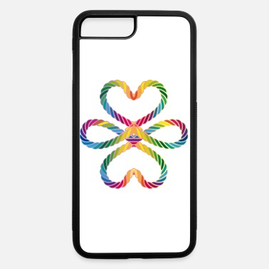 Lucky Charm colorful intertwined cords in rainbow colors - iPhone 7 & 8 Plus Case