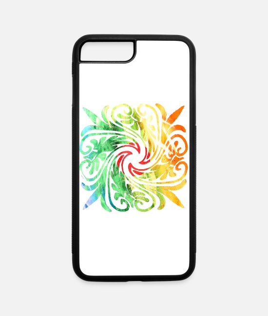 New Zealand iPhone Cases - Moroccan Tatoo new art 0056 - iPhone 7 & 8 Plus Case white/black