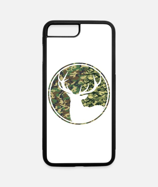 Stag iPhone Cases - Deer Hunting Camouflage Patch - iPhone 7 & 8 Plus Case white/black