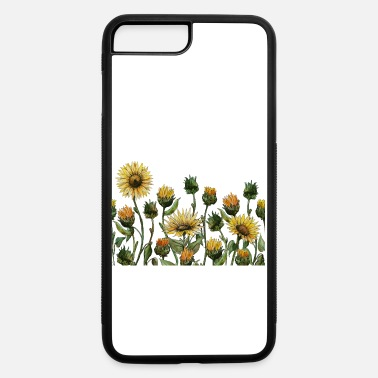 Hand drawn watercolor vector calendula - iPhone 7 & 8 Plus Case