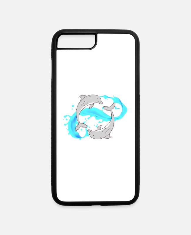 Wave iPhone Cases - Sea Creatures Ocean Sea Swim Deep Sea Tshirt - iPhone 7 & 8 Plus Case white/black