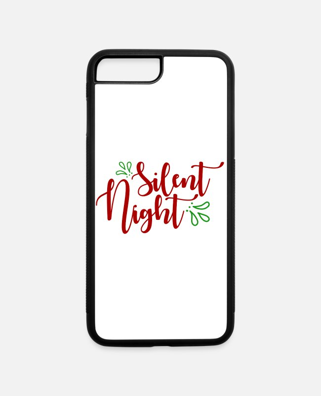 Christmas iPhone Cases - Silent night, holy night - iPhone 7 & 8 Plus Case white/black