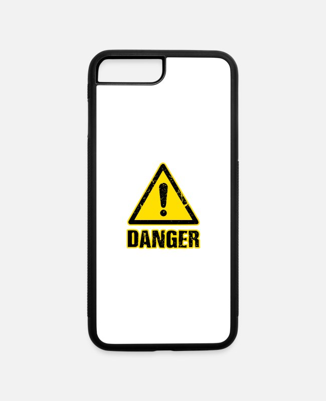 Heart iPhone Cases - Danger - iPhone 7 & 8 Plus Case white/black