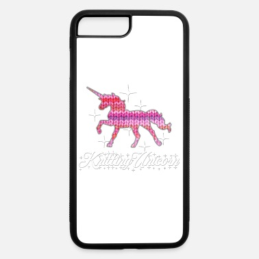 Knitting unicorn crochet sew yarn wool knit - iPhone 7 & 8 Plus Case