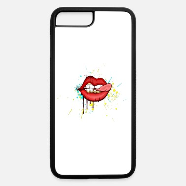 Tongue tongue lips - iPhone 7 Plus/8 Plus Rubber Case