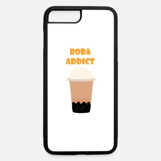 Tear  iPhone Cases - Boba Addict - iPhone 7 & 8 Plus Case white/black