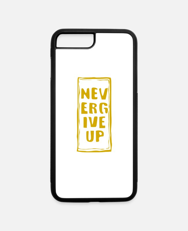 Pollution iPhone Cases - never give up - iPhone 7 & 8 Plus Case white/black