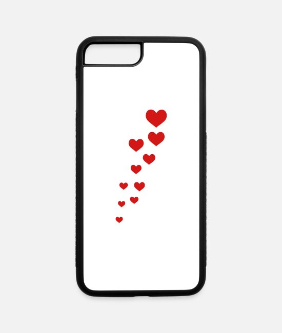 Amor iPhone Cases - hearts - iPhone 7 & 8 Plus Case white/black