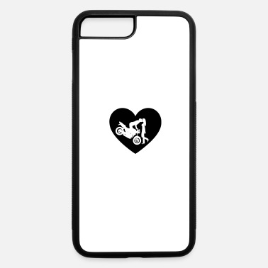 Motorcycle Couple Motorcycle kiss Naked Bike Heart - iPhone 7 & 8 Plus Case