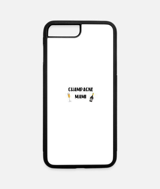 Hen iPhone Cases - champagne mami gift idea - iPhone 7 & 8 Plus Case white/black
