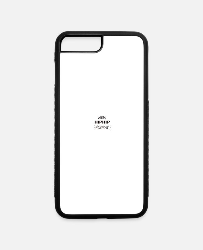 Funny Hip Surgery iPhone Cases - HIP SURGERY: Hip Hip Hooray - iPhone 7 & 8 Plus Case white/black