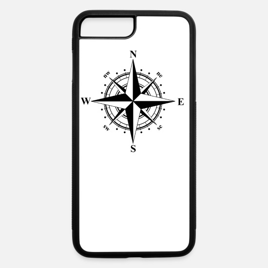 purchase cheap d45a5 36baa Compass Rose Black & White iPhone Case flexible - white/black
