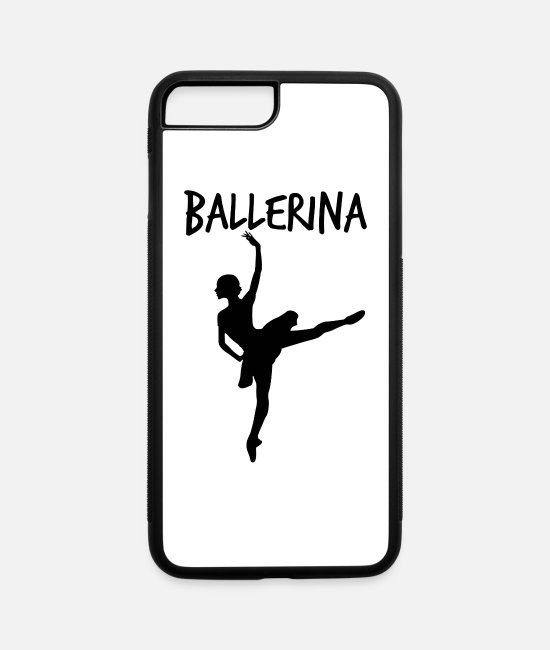 Theater iPhone Cases - ballerina dancer - iPhone 7 & 8 Plus Case white/black