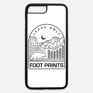 National National Park Shirt Leave Only Foot Prints Mountains Tee - iPhone 7 & 8 Plus Case
