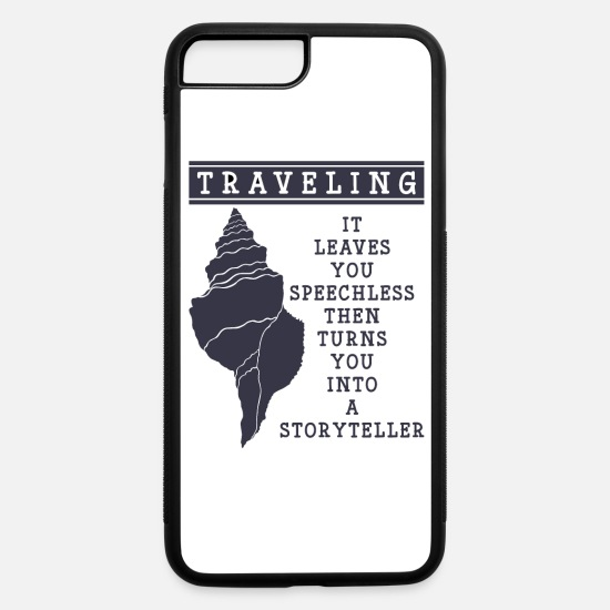 Country iPhone Cases - Traveling leaves you speechless - iPhone 7 & 8 Plus Case white/black