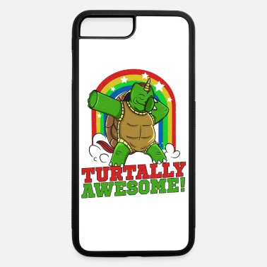 Dabbing Turtle TURTALLY AWESOME Funny Sea Turtle - iPhone 7 & 8 Plus Case
