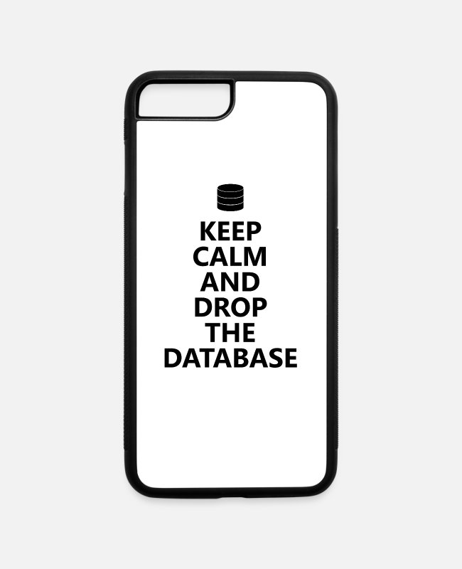 Programmer iPhone Cases - Database admin - keep calm - iPhone 7 & 8 Plus Case white/black