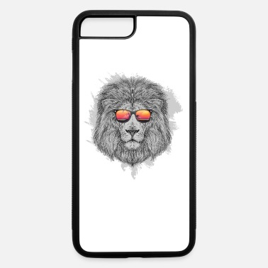 Sunglasses Lion head with sunglasses gift idea lion king - iPhone 7 & 8 Plus Case