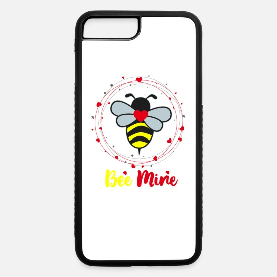 Gift Idea iPhone Cases - bee mine gift idea be mine honey bee - iPhone 7 & 8 Plus Case white/black
