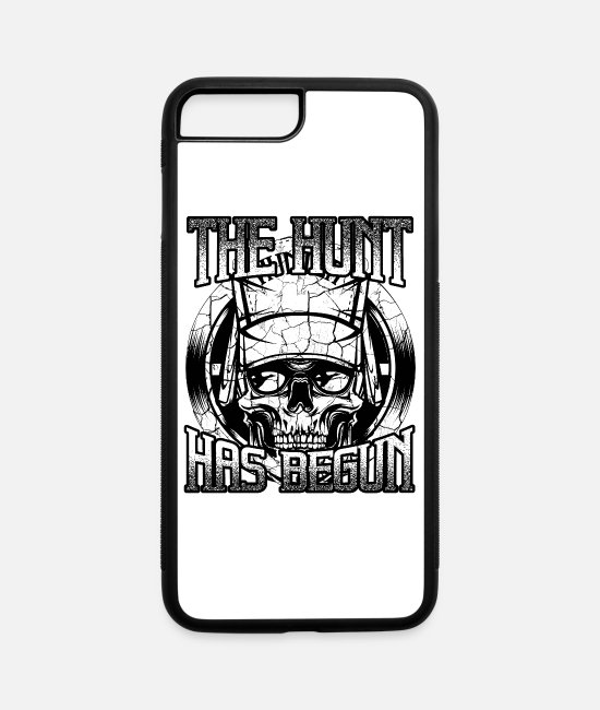 Stag iPhone Cases - Cool Hunter's Skull Deer Hunting Wildlife Forest - iPhone 7 & 8 Plus Case white/black