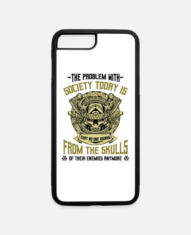Viking iPhone Cases - Vikings Funny Sayings Cool Nordic Quote Celtic - iPhone 7 & 8 Plus Case white/black