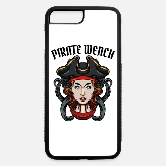 Pirate iPhone Cases - Pirate Wench Cool Pirate Pirate Girl Gift - iPhone 7 & 8 Plus Case white/black