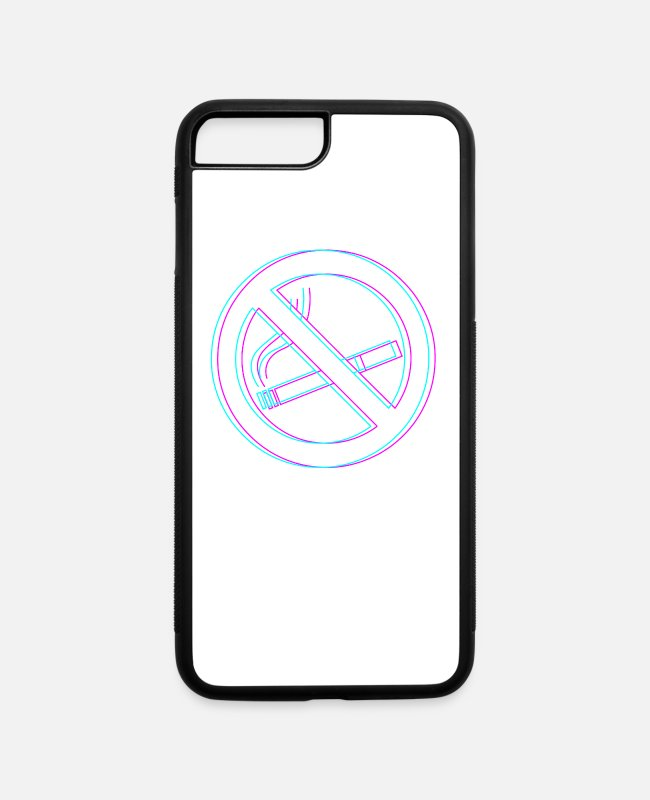 Dont iPhone Cases - Ex Smoker Non Smoking Gift Don't Smoke Saying - iPhone 7 & 8 Plus Case white/black
