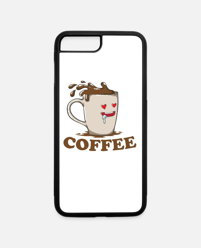 Partnership iPhone Cases - Partner look Coffee with a cup in love - iPhone 7 & 8 Plus Case white/black