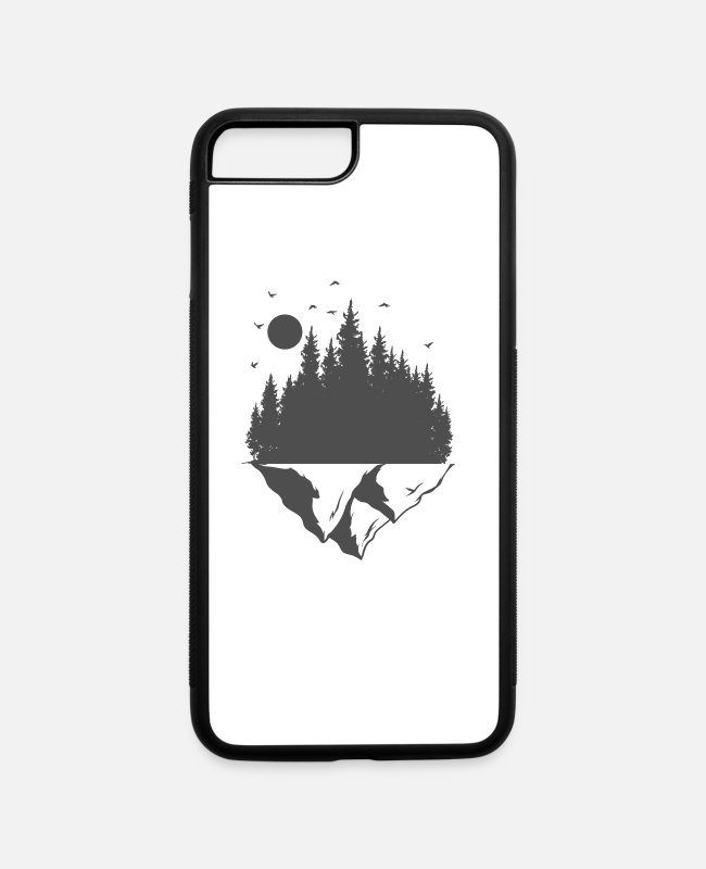 Nature iPhone Cases - Hiking at the edge of the forest in the nature - iPhone 7 & 8 Plus Case white/black