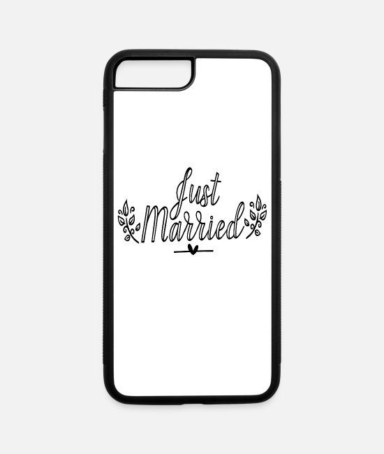 Love iPhone Cases - Just Married Gift Idea - iPhone 7 & 8 Plus Case white/black