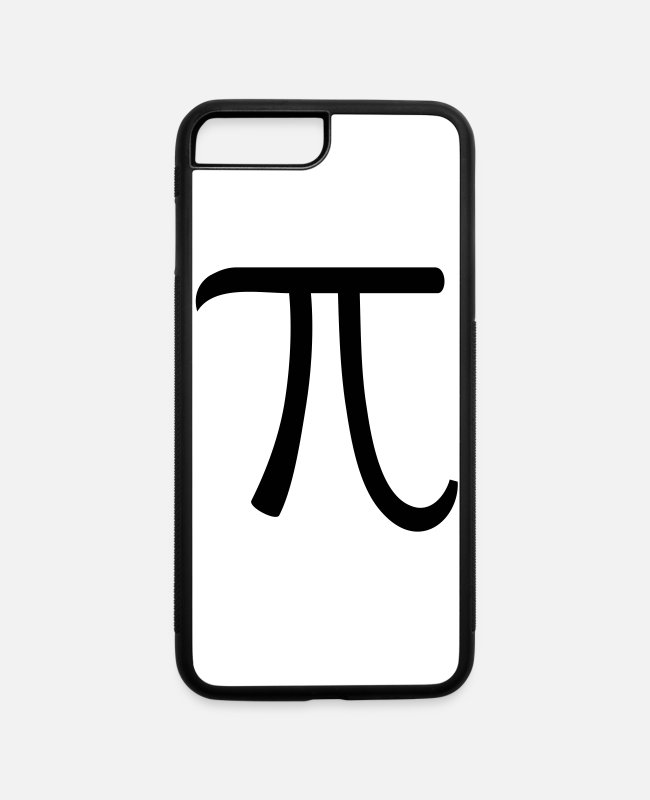 Alphabet iPhone Cases - Pi - iPhone 7 & 8 Plus Case white/black