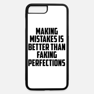 Quotes making mistakes funny quote - iPhone 7 Plus/8 Plus Rubber Case