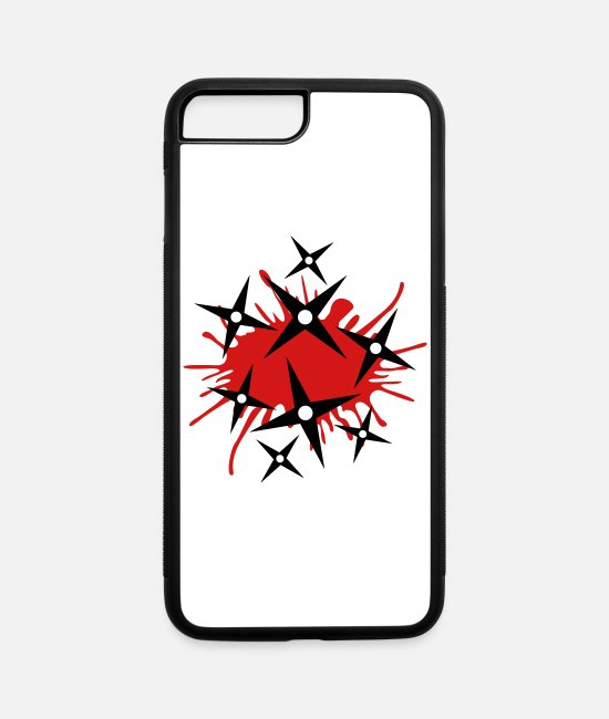 Mma iPhone Cases - Bloody Ninja Stars - iPhone 7 & 8 Plus Case white/black