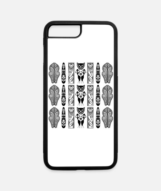 Art iPhone Cases - African Art - Decorative - iPhone 7 & 8 Plus Case white/black
