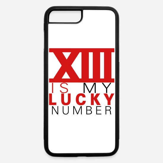 Bred iPhone Cases - 13 is my lucky number v2 - iPhone 7 & 8 Plus Case white/black