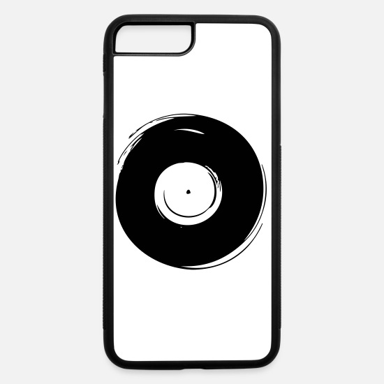 Grungy iPhone Cases - vinyl grunge - iPhone 7 & 8 Plus Case white/black