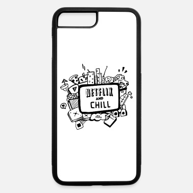 Netflix Netfix and chill - iPhone 7 Plus/8 Plus Rubber Case