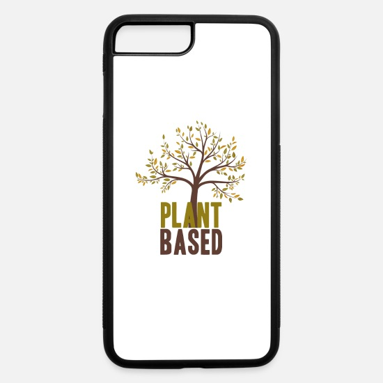 Vegetables iPhone Cases - Plant based vegan tree quote present - iPhone 7 & 8 Plus Case white/black