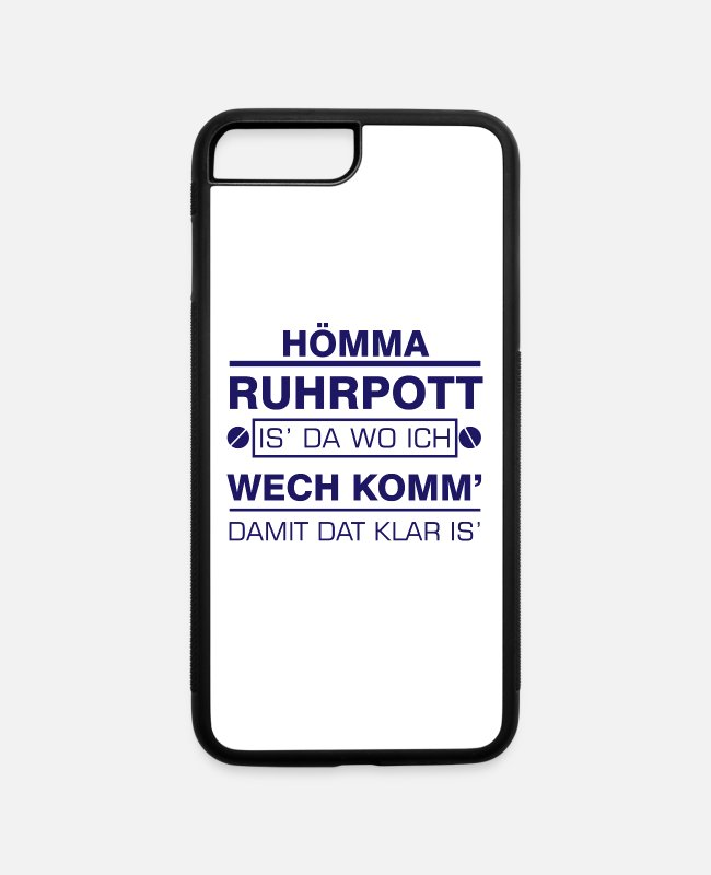 Mining iPhone Cases - Hömma Ruhrpott Heimat Ruhrgebiet - iPhone 7 & 8 Plus Case white/black