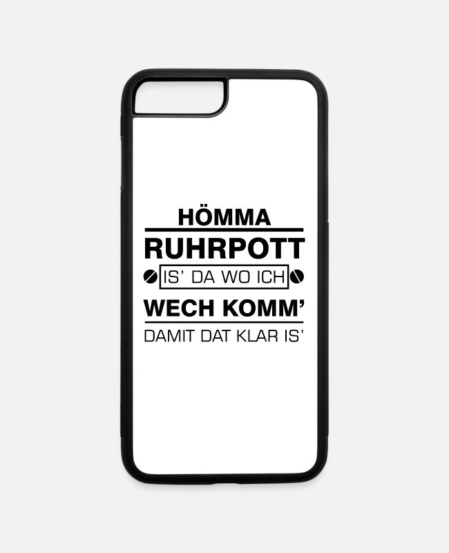Ruhrpott iPhone Cases - Hömma Ruhrpott Heimat Ruhrgebiet - iPhone 7 & 8 Plus Case white/black