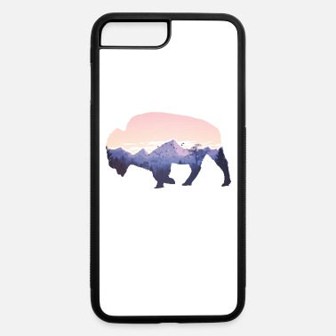 Native American Buffalo Native American Buffalo Bison Mountain Wilderness - iPhone 7 & 8 Plus Case