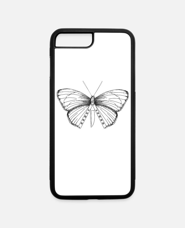 Knife iPhone Cases - Balisong Flipping Butterfly Knife Gift - Artistic - iPhone 7 & 8 Plus Case white/black