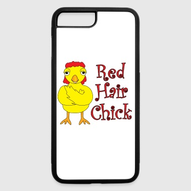 Red Hair Chick Text - iPhone 7 Plus/8 Plus Rubber Case
