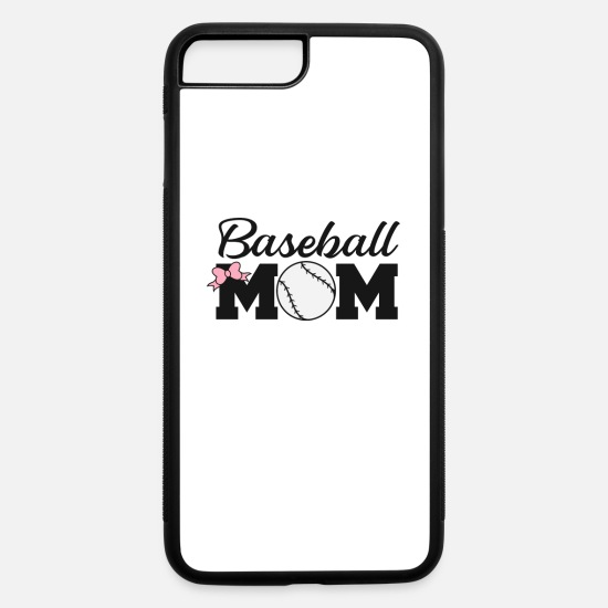 College iPhone Cases - FUNNY COOL CUTE BASEBALL print - BASEBALL MOM - iPhone 7 & 8 Plus Case white/black