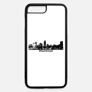 Montreal - city scene black skyline - iPhone 7 Plus/8 Plus Rubber Case