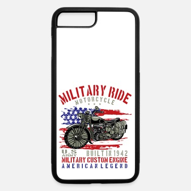 Military Bike Military Ride USA Flag Military Day - iPhone 7 & 8 Plus Case