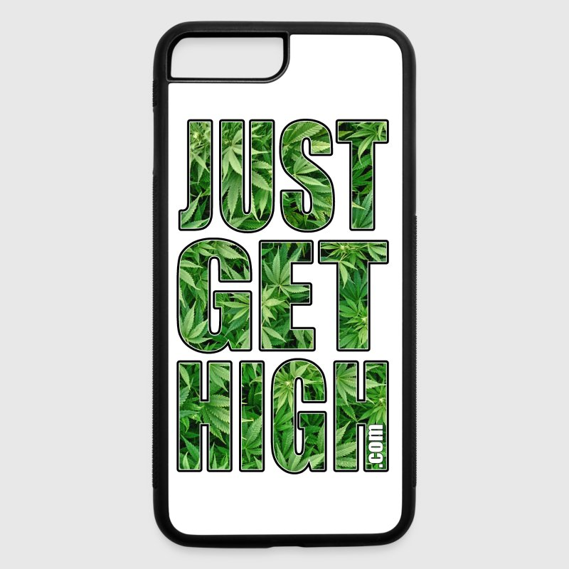 JUST GET HIGH: CANNABIS LEAF FIELD - iPhone 7 Plus/8 Plus Rubber Case