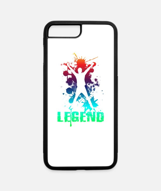Singer iPhone Cases - Legend - iPhone 7 & 8 Plus Case white/black